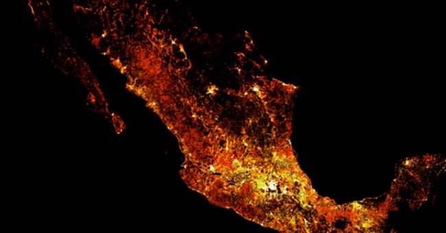 Disponible mapas de densidad de población de América Latina en alta resolución